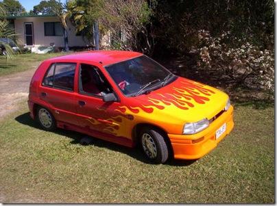 llamas-coche