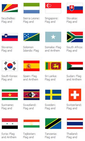 nos proporciona entre otras cosas un conjunto de banderas de 192 países.