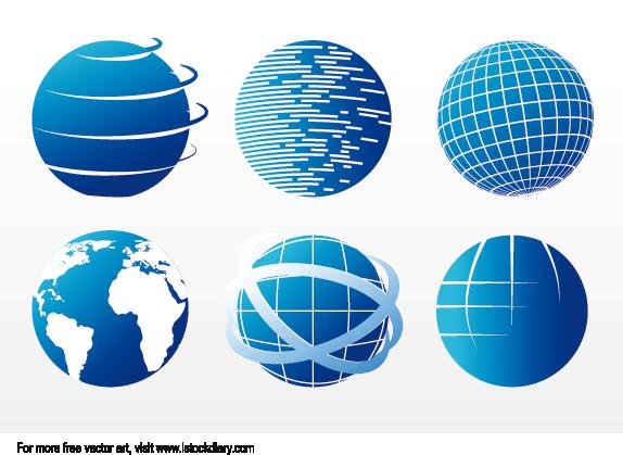 Colección de iconos del globo terráqueo
