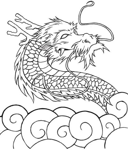 Dibujos dragón japonés - Imagui