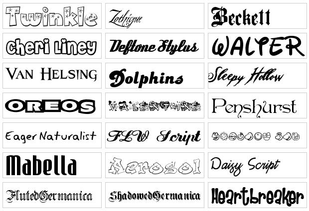 estilos de letras. el de colocar las letras
