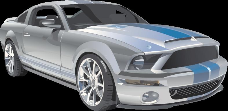 Ilustración vectorial de un Ford Mustang