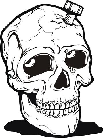 imagenes de calaveras y esqueletos, muy buenas