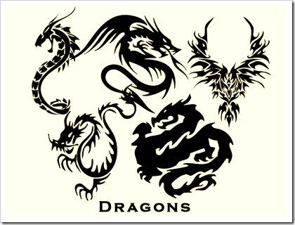 dragons-vectors