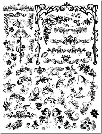 Dibujos florales imagui for Formas ornamentales