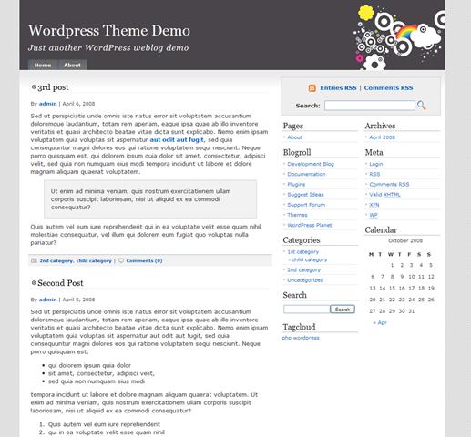 Selección de 13 temas sencillos y elegante para WordPress ...