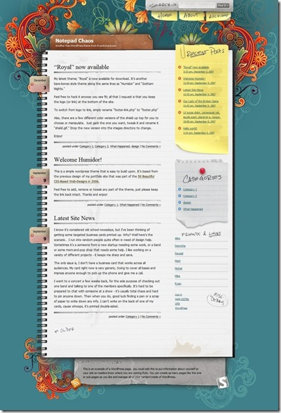 notepad-chaos-wordpress-theme
