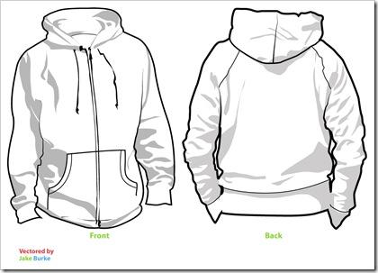Hoodie template (illustrator)