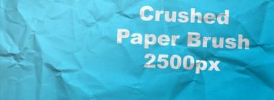 pincel papael arrugado 400x147 Pinceles de papel arrugado para Photoshop