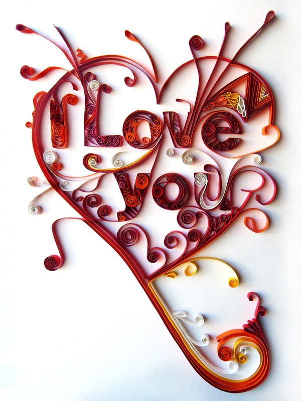I Love You Paper