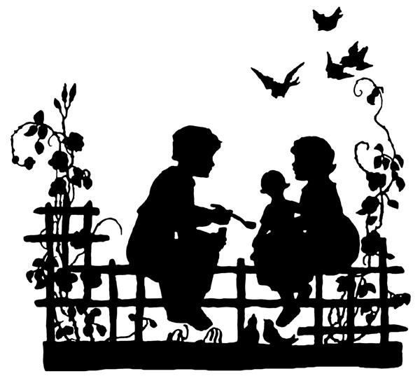 Victorian Silhouette Clip Art