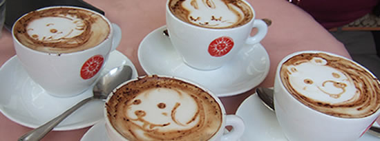 arte cafe cab Obras de arte en los cafés con leche
