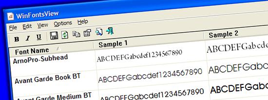 WinFontsView WinFontsView: ver la tipografía instalada en tu PC
