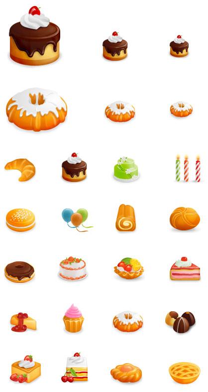 Yummy Icon Set: iconos de pasteles