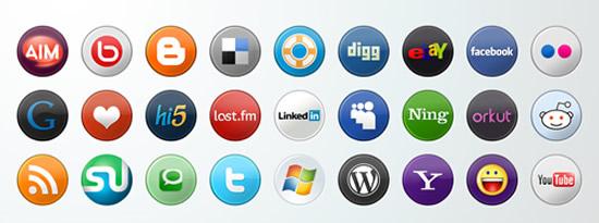 social icons cab 33 conjuntos de iconos de medios sociales para diseñadores y bloggers