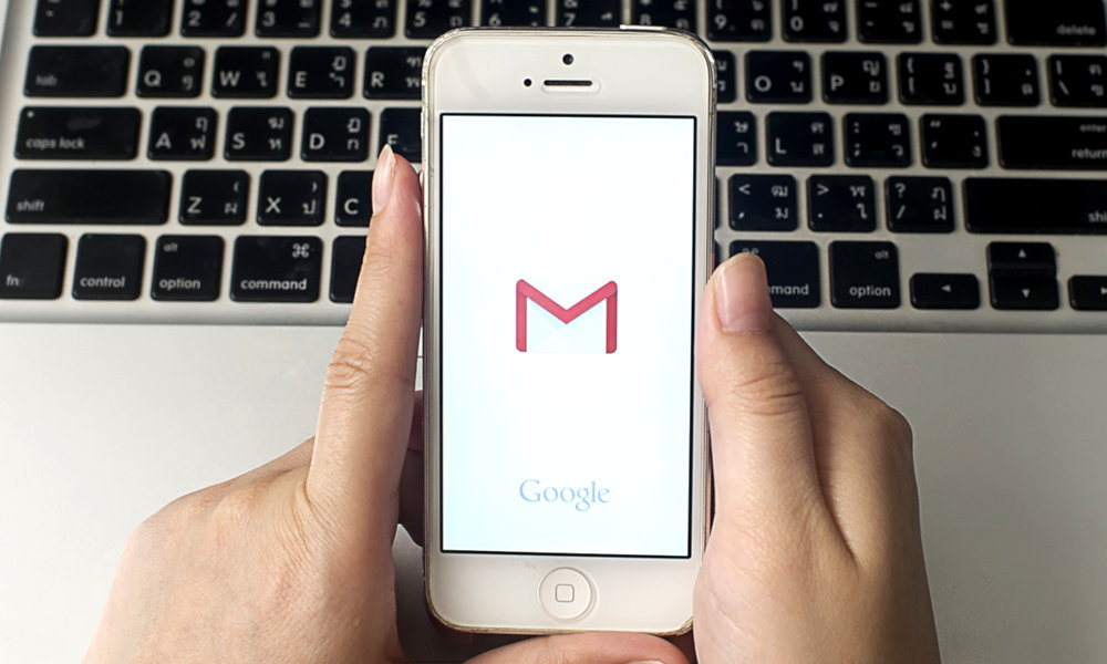 App Gmail en un dispositivo móvil